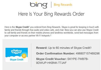 Get free 60 minutes skype call credit