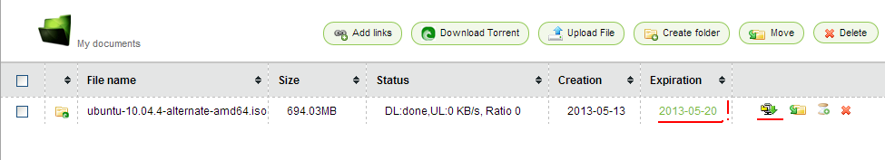 Download torrent file with idm