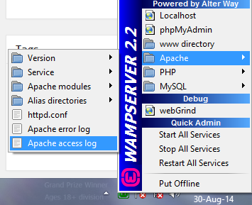 enable htaccess in wamp2