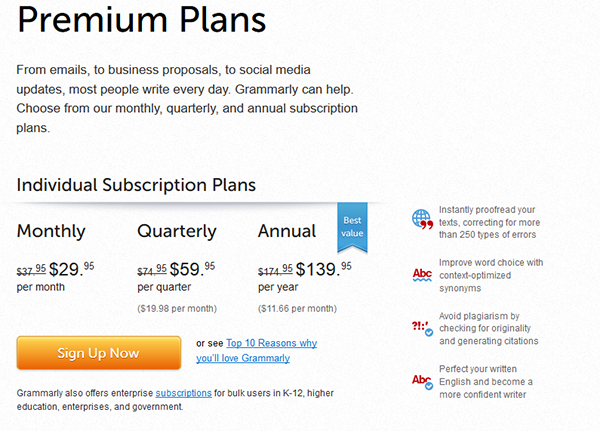 Grammarly-premium-plans