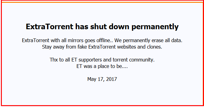 extratorrent alternatives