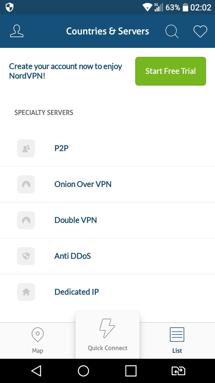 Best VPN for android 1 Nordvpn 2