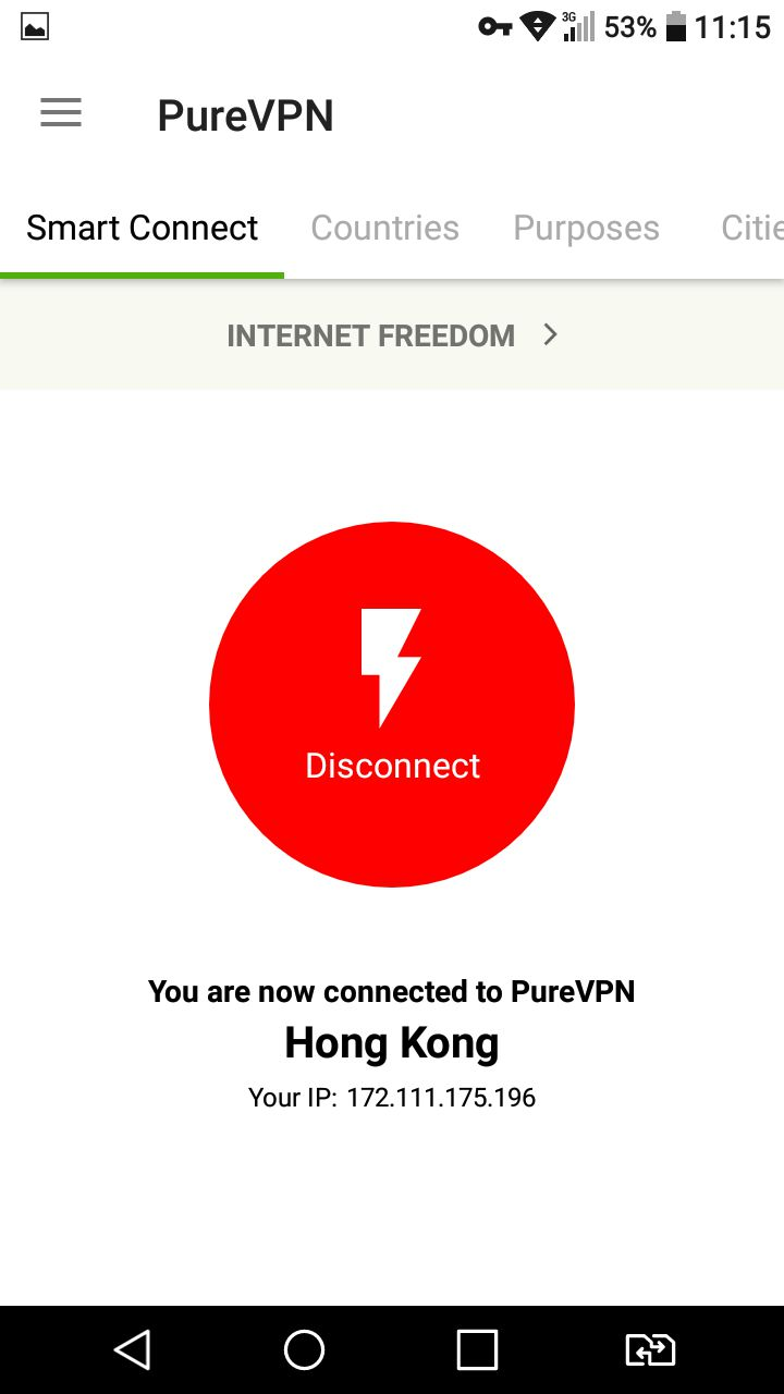 Best VPN for android 5 PureVPN VPN 1