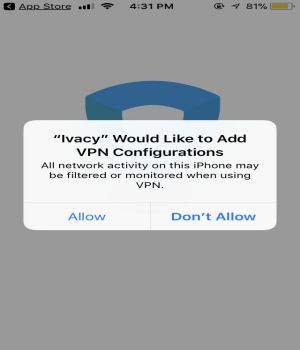 VPN for iphone Ivacy VPN 1