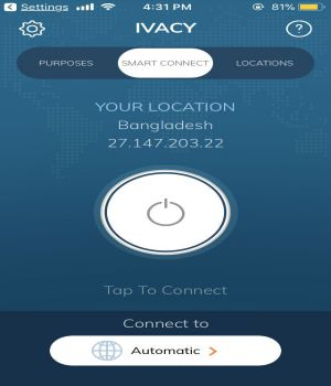VPN for iphone Ivacy VPN 2