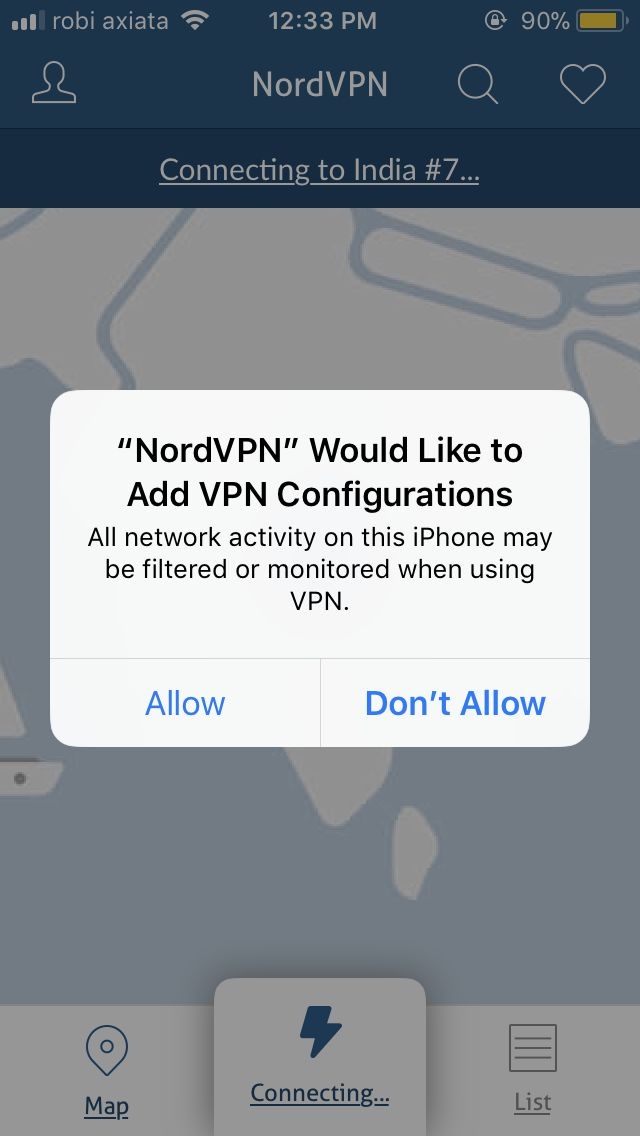 VPN for iphone NordVPN allow 1