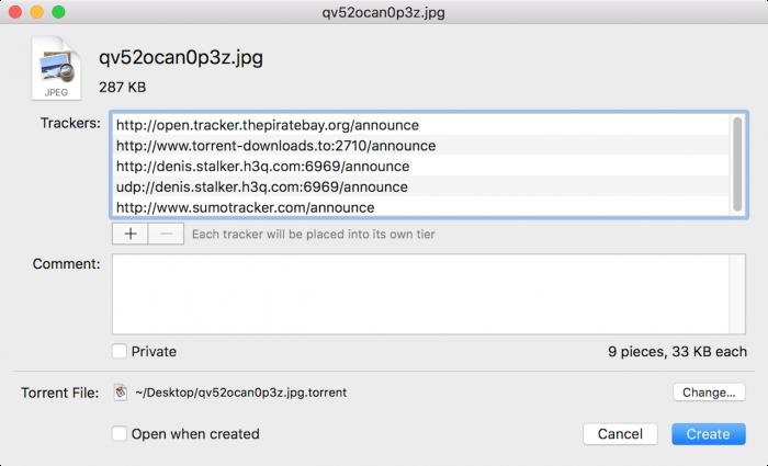 create torrent file 2