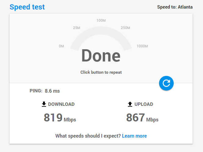 fastestvpn speedtest
