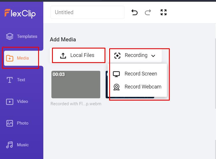 flexclip review media import